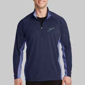 ST854.ojhs - Sport Wick ® Stretch Contrast 1/2 Zip Pullover